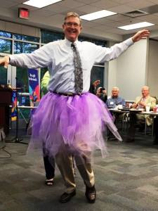 Our Purple Pinkie Dancing Queen courtesy of Bill Pollard.
