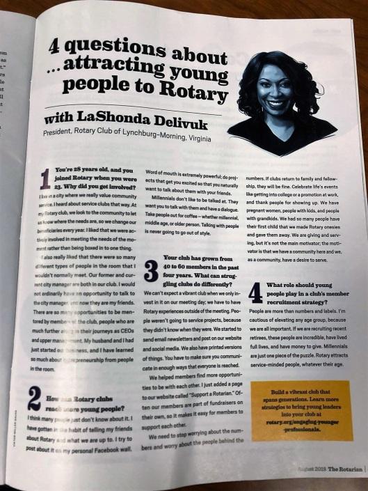 LaShonda in Rotary Magazine (2)